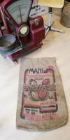 Lenvászon zsák, régi Brazil kávés zsák, dekoráció