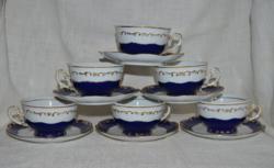 6 pcs zsolnay pompadour tea cup + bottom