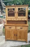 Népi tálalószekrény, tálaló, konyhaszekrény felújított - régi paraszti vidéki, vintage