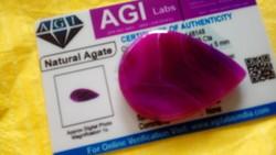 Természetes 62.65 karátos brazil pink achát drágakő tanúsítvánnyal