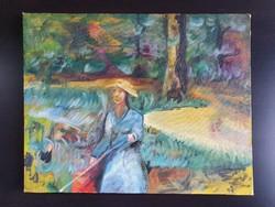 Jelzés nélküli olaj vászon festmény eladó