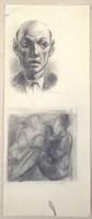 Armand Schönberger (1885-1974) Rajztanulmányok, férfi portré