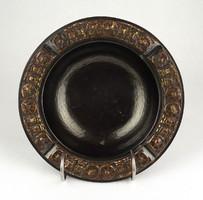 1F465 Nagyméretű mid century bronz iparművész hamutál 20 cm