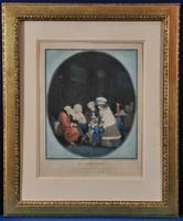 Philibert- Louis Debucourt (1765-1832) Le Compliment és Les Bouquets litográfia