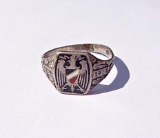 1914-16 világháborús tűzzománcos fémjelzett gyűrű