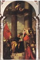 Képeslap / Tiziano Vecellio / festménye