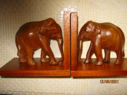 Elefánt könyv támasz pár