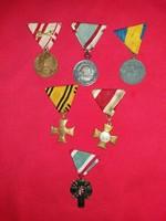 Antik Monarchia Horthy korszak kitüntetések és egy A Hazáért 1944 -89 CSAK egyben a 6 darab