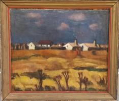 Ism. festő: Táj,Chiovini,Koszta stílusában