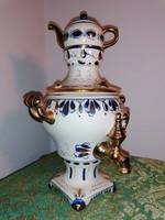 Porcelán szamovár, dísztárgy