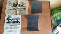Régi dokumentumok náci Németország 1934-1938