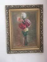 Antique flower still life from unknown painter.