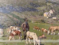 Poll Hugó (1867-1931) Legeltetés