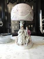 Porcelán asztali lámpa, éjjeli lámpa, hangulat lámpa