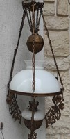 Chandelier, antique chandelier lamp electrified chandelier antique, authentic, wooden ceiling hunting lodge environment
