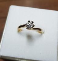 14 kt arany 0,5 ct brill gyűrű