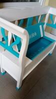 Karos láda ,karos pad  ,felnyitós láda kerti bútor 120 cm