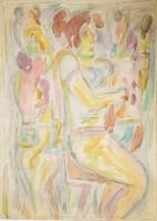 Németh Miklós - 42 x 30 cm tempera, papír