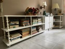 8 részes szekrénysor, fehér szekrény, bútor
