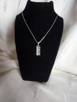 Ezüst nyaklánc markazit köves medállal