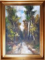Ismeretlen festő 70 x 50 cm olaj, farost, keretezve