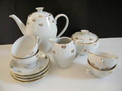 Vintage Epiag (Csehszlovák) porcelán 4 személyes kávéskészlet