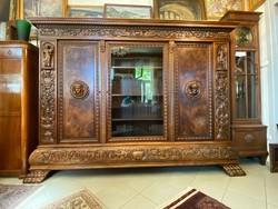 Felújított gazdagon faragott dolgozó szoba, iroda bútor