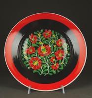 1F704 Hollóházi porcelán falitányér 23.8 cm