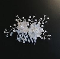 Ékszerek-hajdíszek, hajcsatok: Esküvői, menyasszonyi, alkalmi hajdísz S-H-FÉ12e