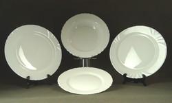 1F663 Nagyméretű fehér üveg tányérok 4 db