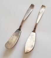 Antik ezüst 800-as pástétom vágó és kenő