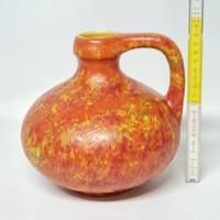 Narancssárga mázas, Tófej kerámia díszváza (1887)