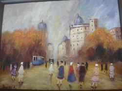 .Berkes Antal :párizsi utcakép