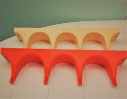 NDK retro műanyag design fogasok, 2 db együtt