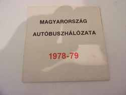 Magyarország autóbuszhálozati térképe 1978-1979