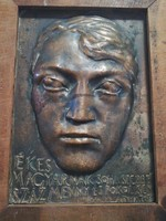 Melocco Miklós Ady Endre képcsarnokos bronz