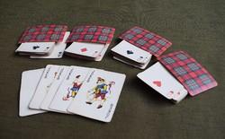 Francia kártya , két pakli , négy JOKER használt , römi , póker , Foreign