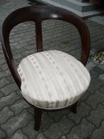 Nagyon ritka és különleges 150 éves antik vastag dió svartnis biedermeier fotel / karfás szék