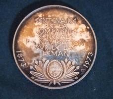 1973 MAHART emlék ezüst érme