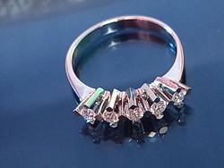 Zen gyémánt gyűrű, TOP WESSELTON kövekkel