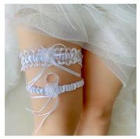 Esküvői, menyasszonyi harisnyakötő szett ES-HK25-2f