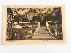 Antik, régi postatiszta, színes képeslap (Karlovy Vary) Karlsbad, Hotel Imperial 1900-as évek eleje