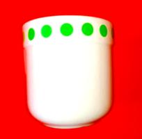 Ritka, régi Alföldi zöldpöttyös csésze, bögre.  2.