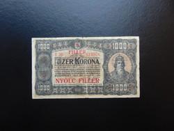 1000 korona 1923 8 fillér Felülbélyegzés ! 03