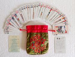 Asahi japán keleti kártya pakli kártyapakli Kyoto 54 darabos hiánytalan hímzett tokban