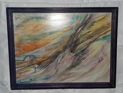 Lacza Márta: Előadás c. festménye