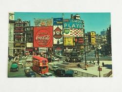 Retro, vintage, régi, angol, színes postatiszta képeslap London, Piccadilly Circus 1970-es évek