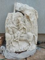 120x80x20 cm, kb.40 kg, gipsz szobor,  kb.50 éves
