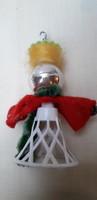 Karácsonyfadísz, retró figurális dís