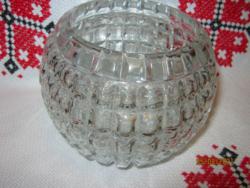 Régi  gömb üveg váza